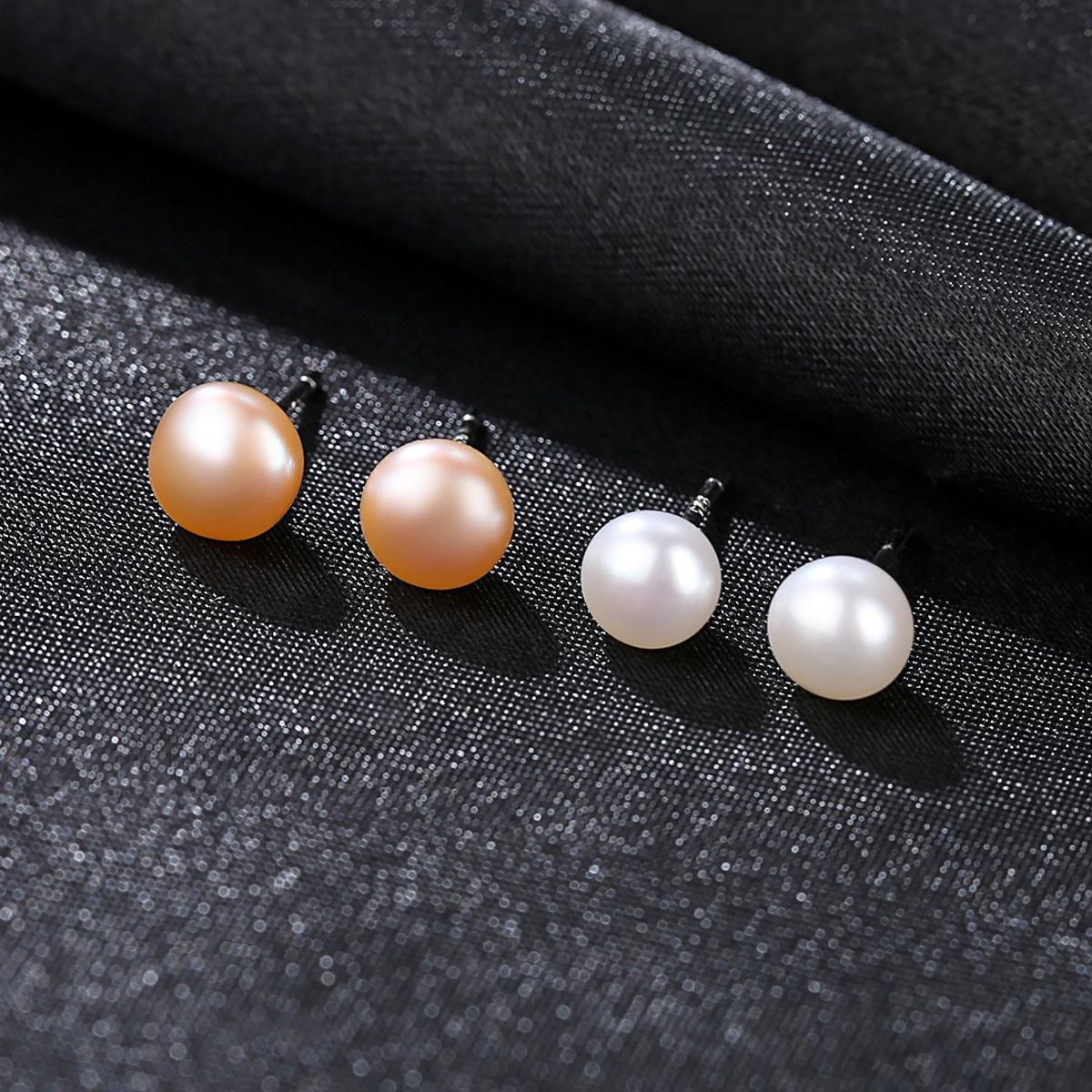 YUEYIN 925 Sterling Silver Earrings for Women Small 6mm Pearl High Quality Cute