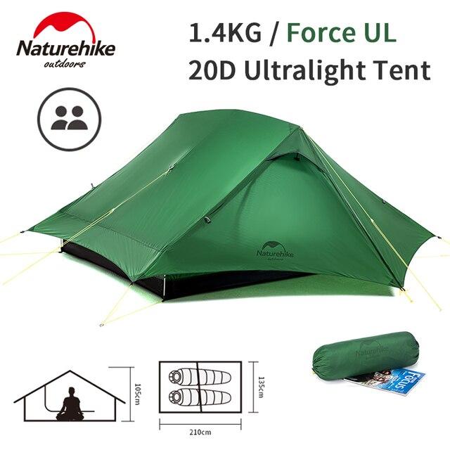 Naturehike Force UL 2 Person Tent Ultralight 20D