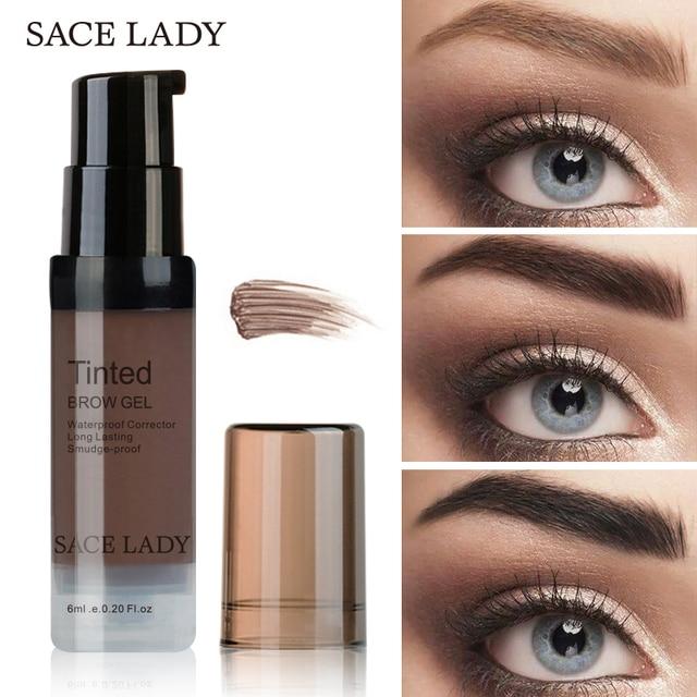 SACE LADY Waterproof Eyebrow Gel Makeup Henna Shade For Eye Brow Tint Natural Enhancer Make Up Cream Long Lasting Brand Cosmetic 5