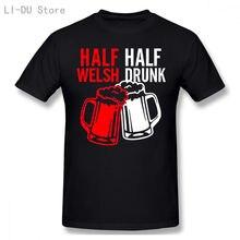 Половина валлийский полупьяные футболка вечерние Регби Футбол