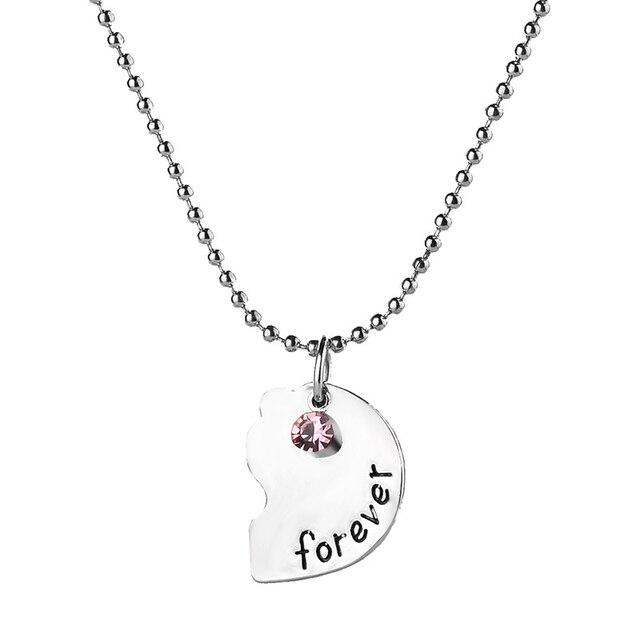 3 pièces coeur bleu/bleu ciel/rouge strass pendentif collier meilleurs amis pour toujours épissage collier amitié cadeaux