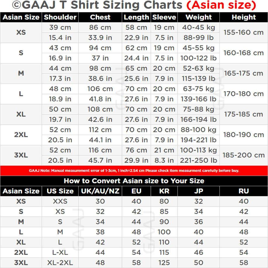 Nueva camiseta GAAJ hombres 100 algodón 3 piezas Uds. Camiseta básica en blanco Harajuku blanco superior verano Streetwear Camiseta extragrande 2XL 3XL