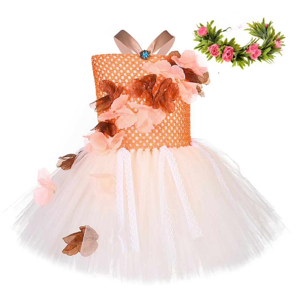 Moana Princess Girl Sleeveless Dress Hawaiian Book Day Kids Cosplay Costume Gown