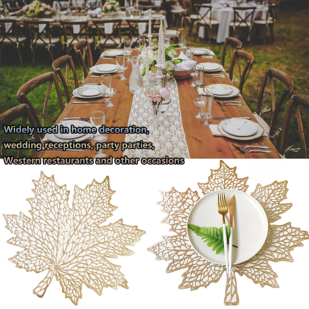 Christmas Flower Pad Table Placemat Non-slip Mats Dinner Party Wedding Decor