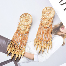 ZA New Long Gold Dangle Drop Earrings Hang Chain Tassels Fine Jewelry Accessories Wholesale Vintage Pendientes Bijoux For Women