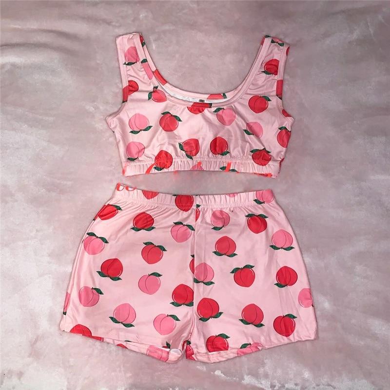 Women Sexy Spaghetti Strap Crop Top And Shorts Leopard Print Sleepwear Pijama Nightwear Pajamas Set For Women Pyjama Femme