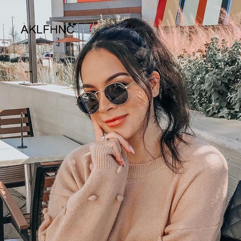 2020 Classic Small Frame Round Sunglasses Women/Men Brand Designer Alloy Mirror Sun Glasses Female Male Vintage Modis Oculos