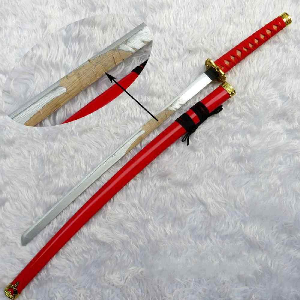 Thanh Kiếm Gỗ Nhân Vật-Chơi Mô Phỏng Hoạt Hình Gỗ Đen, Đỏ Và Trắng Ba Màu Gỗ Samurai Thanh Kiếm Ba Màu Tùy Chọn