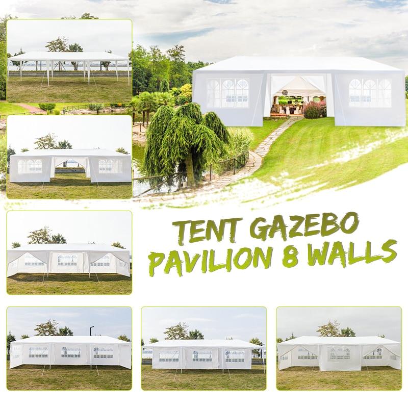 79x30FT portátil actualización exteriores gazebo toldo fiesta boda impermeable carpa jardín gazebo de patio pabellón atender eventos 8 paredes