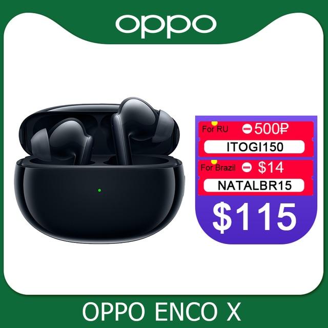 Oppo Enco X Ture אלחוטי אוזניות TWS 3 מיקרופון רעש ביטול אוזניות Bluetooth 5.2 אוזניות לרינו 5 פרו 4 SE למצוא X2 פרו