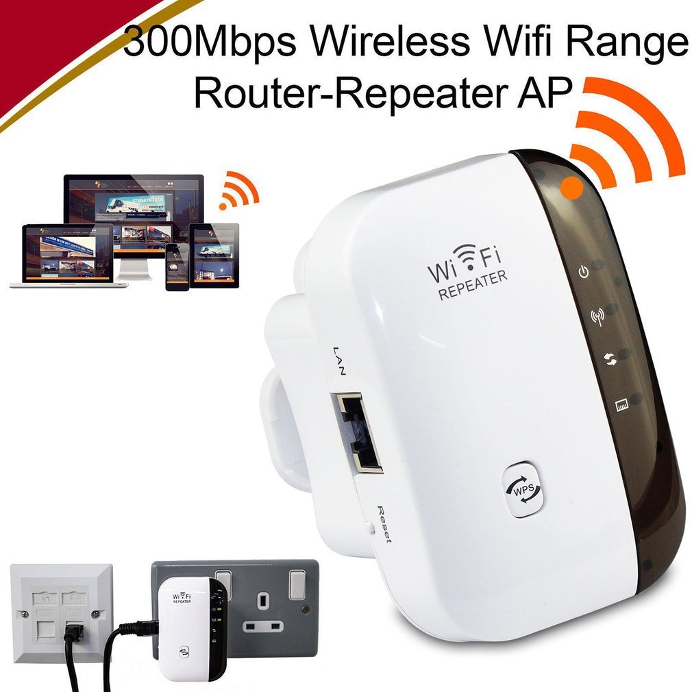 2.4 GHz Wireless 300Mbps Wi-Fi 802.11 AP Wifi Range Router Repeater Extender Booster Easy for Installation image