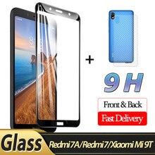 2-in-1 Front Glass + Back Film Redmi 7A 3D for Xiaomi Mi 9T 7 Screen Protector redmi 7a protective glass