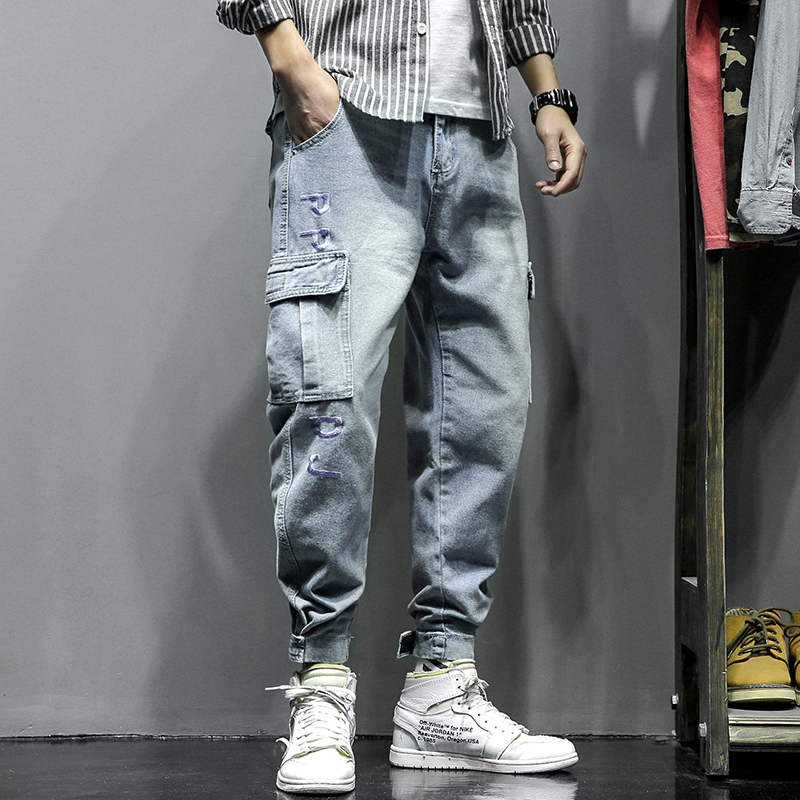 2020 Hot Sale Streetwear Casual Men Jeans Pants Straight Slim Cotton Ankle-Length Denim Jeans Hip Hop Men Jeans Pants