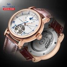 SEA GULL Business Uhren männer Mechanische Armbanduhren Kalender 30 m Wasserdicht Leder Valentine Männlichen Uhren 519.11.6040