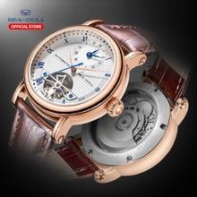 SEA GULL Relógios Mecânicos dos homens de Negócios relógios de Pulso Calendário 30 m 519.11.6040 Dos Namorados Relógios Masculinos de Couro À Prova D Água