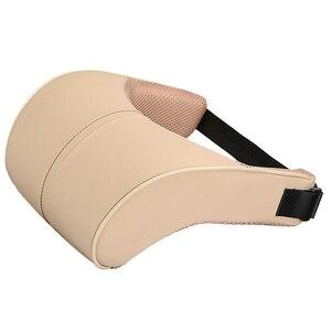 Image 4 - 1 шт. из искусственной кожи авто подушка для шеи пены памяти средства ухода за кожей Шеи RestFor стулья в подушки для сиденья автомобиля Офис облегчение боли