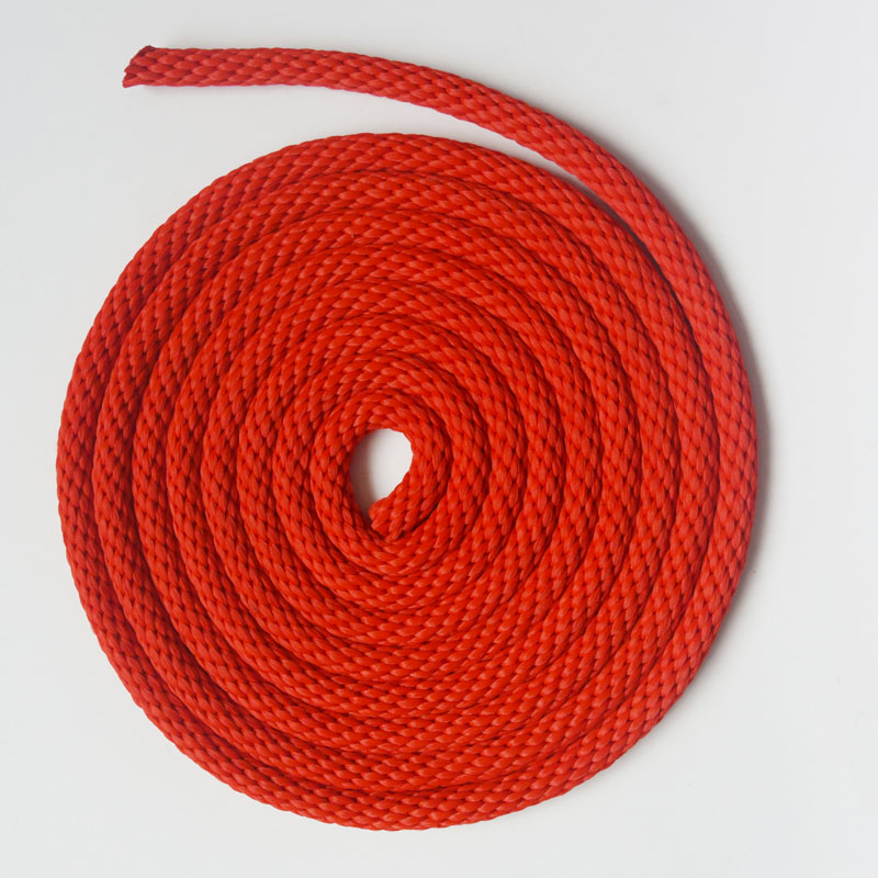 Diameter 12mm  Tracking Round Rope Outdoor Walking Training Braided Nylon Rope Red Blue Coffee Color