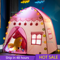Play Kids Tent Children Indoor Outdoor Princess Castle Folding Cubby Toys Enfant Room House Children Tent Teepee Playhouse