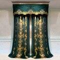 Высококачественная роскошная вилла в европейском и американском стиле зеленого и серого цвета с бархатной вышивкой светонепроницаемая за...