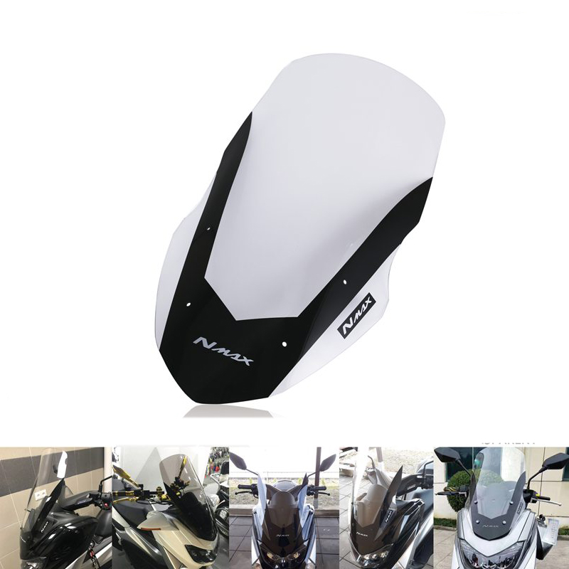 Motorcycle Headlight Windshield Windscreen Long for <font><b>Yamaha</b></font> Nmax155 Nmax125 <font><b>Nmax</b></font> <font><b>125</b></font> 155 2016-2018 image