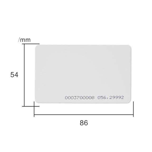 บัตร RFID 125KHz EM4100 TK4100 สมาร์ทการ์ด RFID แท็กสำหรับระบบ