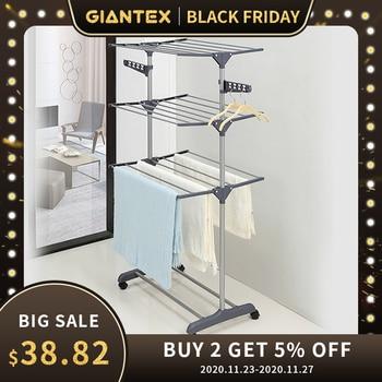 GIANTEX Clothes Hanger Coat Rack Floor Hanger Storage Wardrobe Clothing Drying Racks porte manteau kledingrek perchero de pie