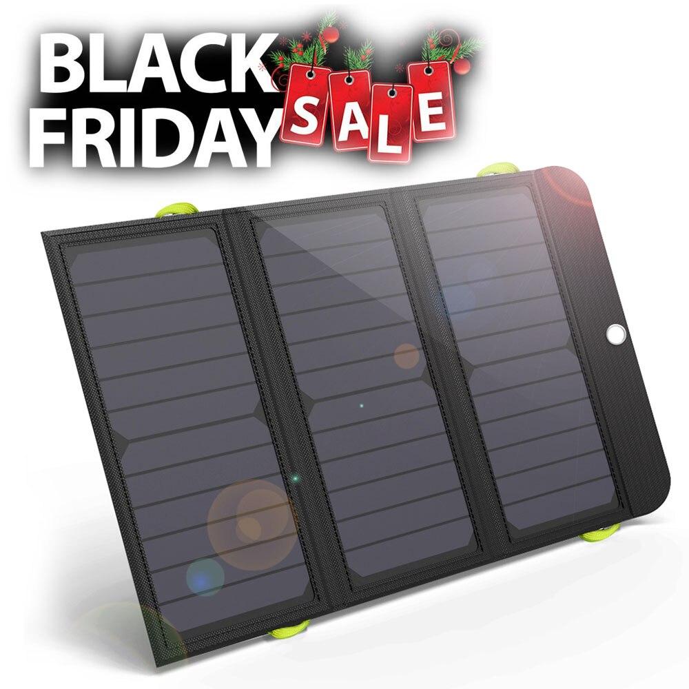 ALLPOWERS Neueste Solar Panel Ladegerät Wiederaufladbare Solar Ladegerät 6000mAh für iPhone 6 6s 7 7plus 8 iPhone X Huawei Xiaomi Samsung
