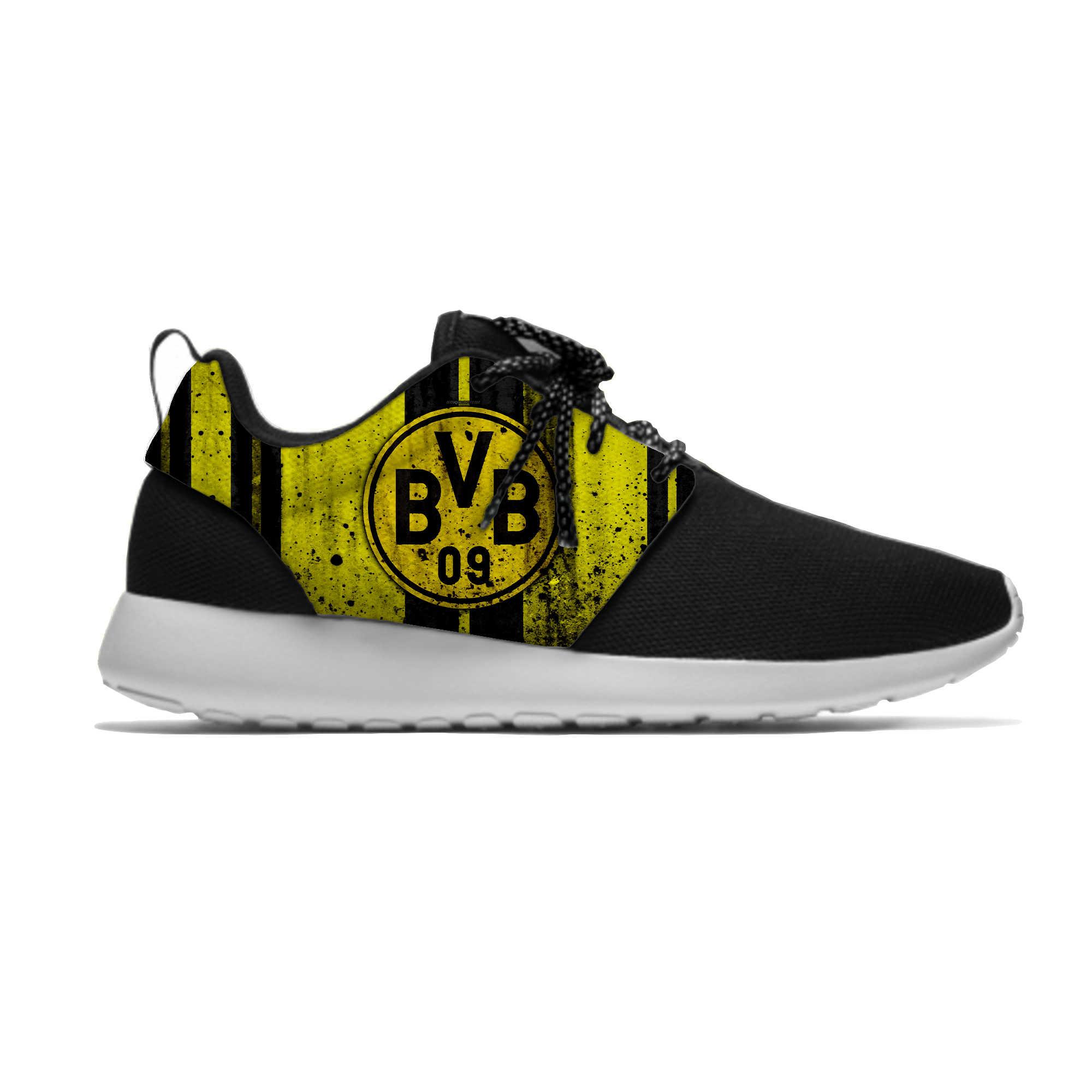 Dortmund Sepatu Olahraga Klub Sepak Bola FC Penggemar Sepak Bola Ringan Borussia Sejuk Santai Pria/Wanita Running Meshy Sepatu