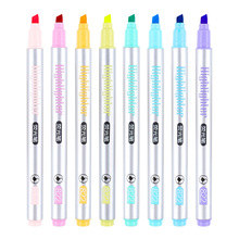 8pcs/set Single head Highlighters Candy color 8 colors Drawing Marker pens Promotional Gift Stationery