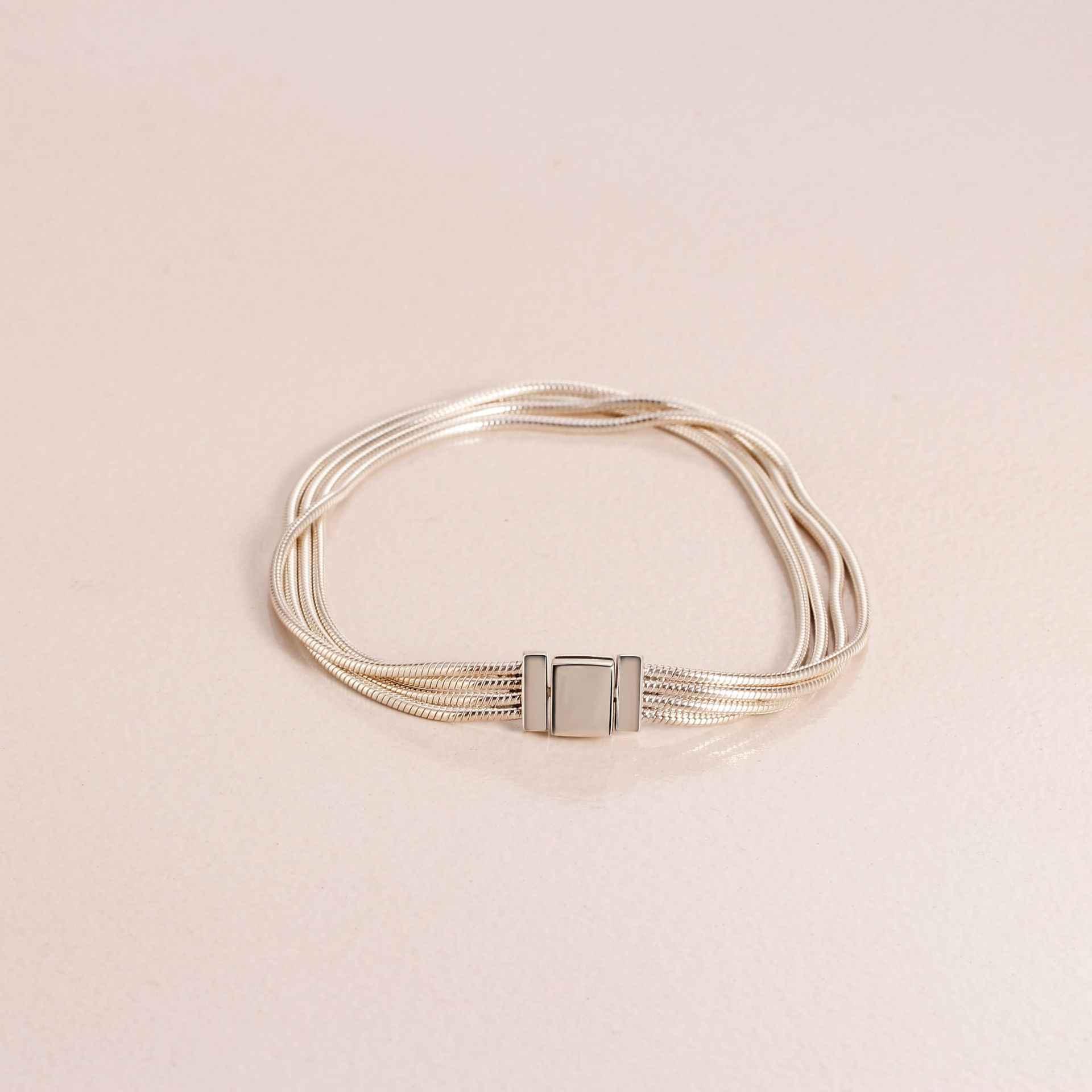 Echtes 925 Sterling Silber Armband Reflexions Multi Schlange Kette Armband Armreif Fit Frauen Perle Charme Diy Mode Schmuck