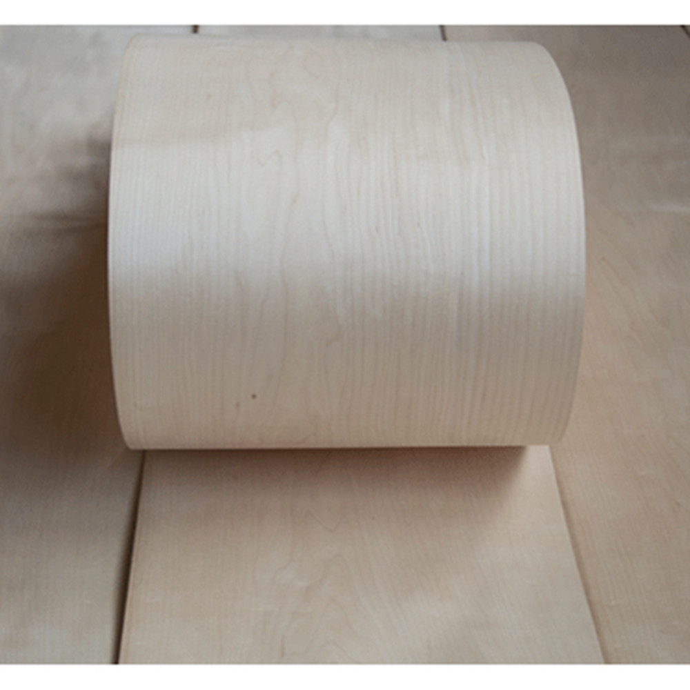 Natural Genuine Maple Wood Veneer For Furniture About 15cm X 2.5m 0.4mm Thick C/C