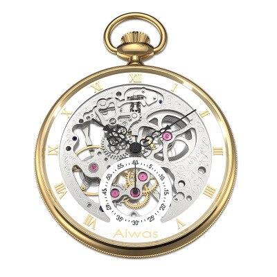 edição mecânica oco perspectiva relógio bolso alta qualidade luxo