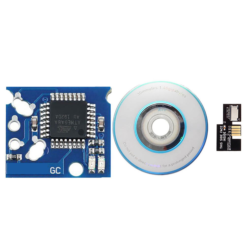For NGC Game Chip SD2SP2 Micro SD Card Adapter Mini Disc DVD Kits for NGC Game Console Accessories