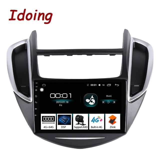 "Idoing 9 ""4G + 64G 2.5D IPS Octa Core Android auto Radio Multimedia Player GPS para CHEVROLET TRAX 2014 2016 DSP de navegación GPS"