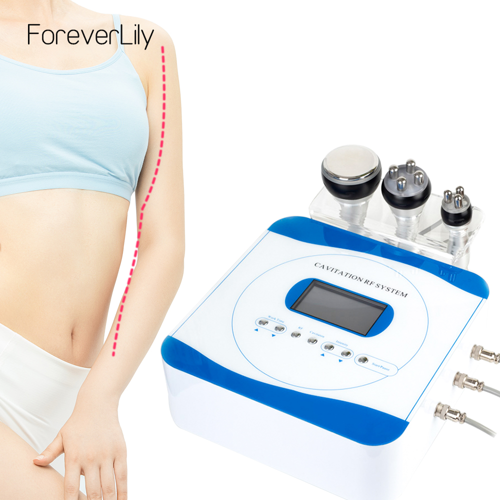 40K Cavitation 3 In 1 Slimming RF Machine Weight Loss Body Face Spa Salon Negative Pressure Shaping Beauty Instrument