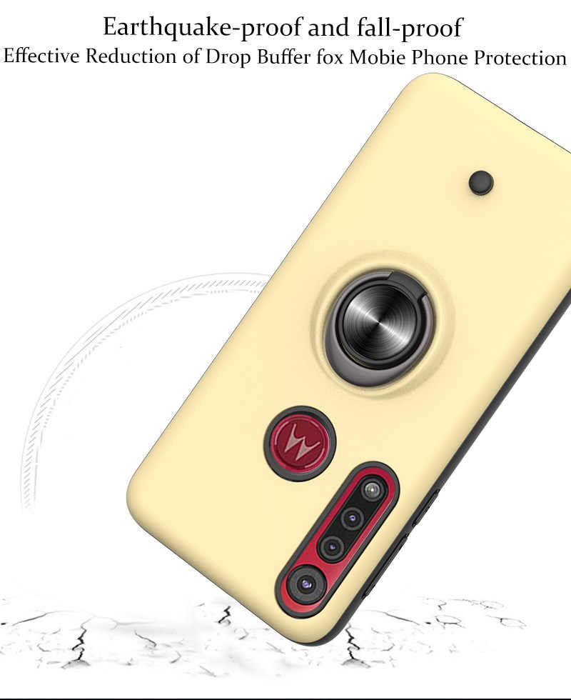 Funda de silicona de lujo para teléfono Coche magnético, funda para capinha Moto G8 Play sFor Moto ajax ONE Macro cubierta dura de la PC Aksesuar