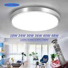 Потолочное светодиодное освещение, современные светильники для спальни, гостиной, поверхностный монтаж, балкон, 18 Вт, 24 Вт, 30 Вт, 36 Вт, 40 Вт, 48 Вт, переменный ток, 110 В/220 В, потолок