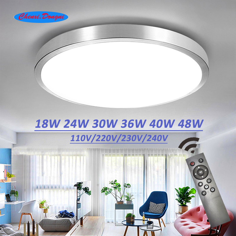 Decke led beleuchtung lampen moderne schlafzimmer wohnzimmer lampe oberfläche montage balkon 18w 24w 30w 36w 40w 48w AC 110 V/220 V decke