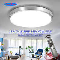 Plafond led éclairage lampes moderne chambre salon lampe surface montage balcon 18w 24w 30w 36w 40w 48w AC 110 V/220 V plafond