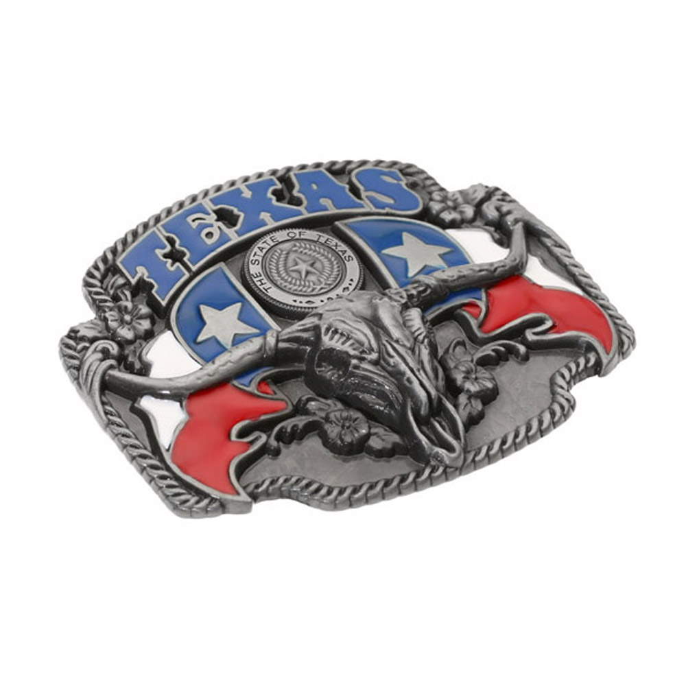 Texas Long Horn Bull Heads Cowboy  Belt Buckle For Man Western Cowboy Buckle Without Belt Custom Alloy Width 4cm