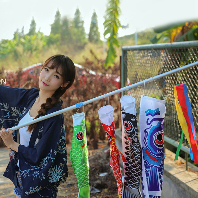 Rainbow Windstock Carp Flag Koi Nobori Wind Streamer Hanging Decor 50-150cm