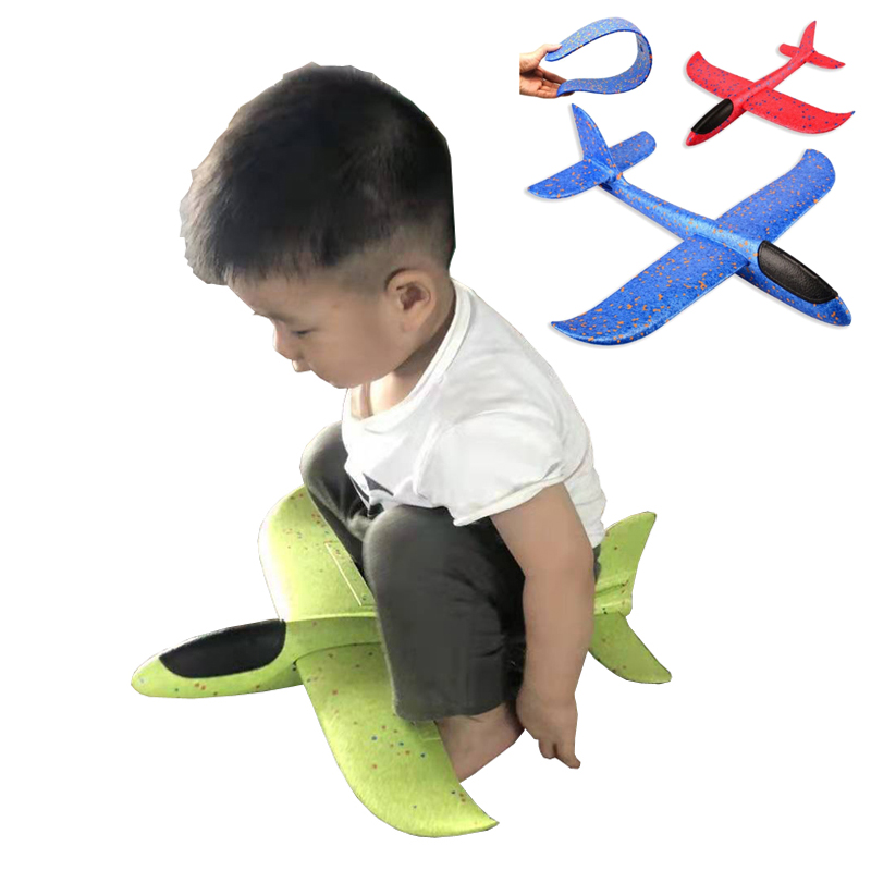 36/48/69 CM Big Hand Throw Foam Planes DIY Kids Toys Flying Glider Aeroplane Model Party Fillers Flying Glider Plane Toys For