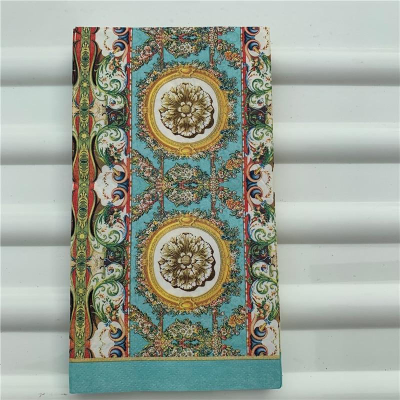 15 Decoupage Wedding Vintage Napkins Paper Elegant Tissue Flower Pattern Striped Craft  Birthday Party Serviettes Decor 33*40cm
