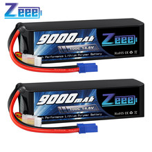 2 шт. Zeee 14,8 V Lipo батарея 4S 100C 9000mAh батарея EC5 разъем с металлическими пластинами для RC автомобилей Грузовик Танк RC модели
