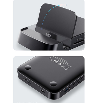 Portable Mini Docking Station HDMI Connecting Projector Type C Power Port Expansion Hub