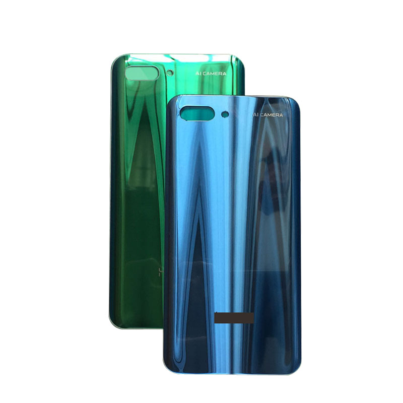For Huawei Honor 10 Back Battery Glass Cover Panel Rear Door Case For Huawei Honor 10 Back Cover Housing No Camera Lens image