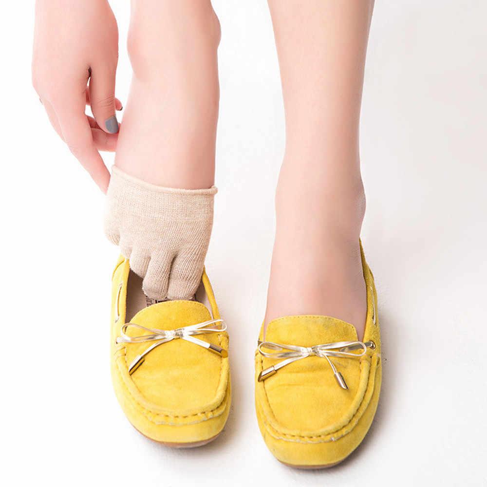Frauen Socken Unsichtbare Yoga Gym Nicht Slip Kappe Socken Hälfte Grip Ferse Fünf Finger Weiblichen Freizeit Atmungsaktive Kurze Socken Komfortable