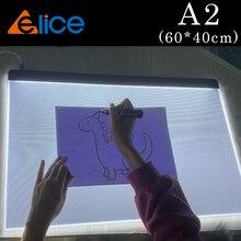 A2(60*40cm) placa de desenho led gráficos digitais caixa de luz almofada pintura rastreamento painel diamante almofada tipo c potência