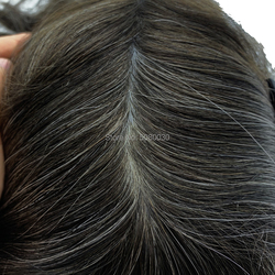 Best Selling Indian Remy hair free style natural wave looking invisible knot thin skin pu toupee