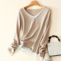 100% Cashmere Women Sweater and Pullovers 2020 Autumn Winter Women Full Sleeve Sweater Warm French Style High Quality